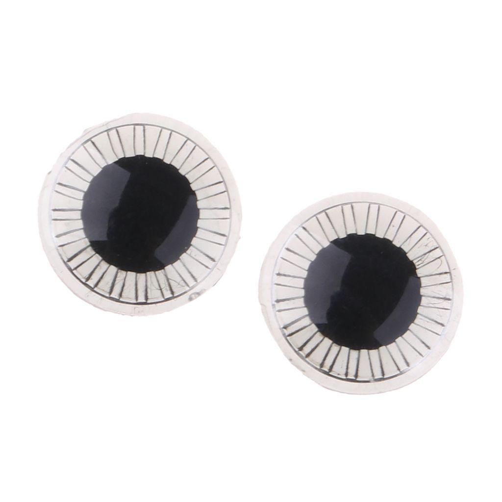 Par de plástico ojo Oculares chips de bricolaje Eyechips Para Middie Blythe muñecas
