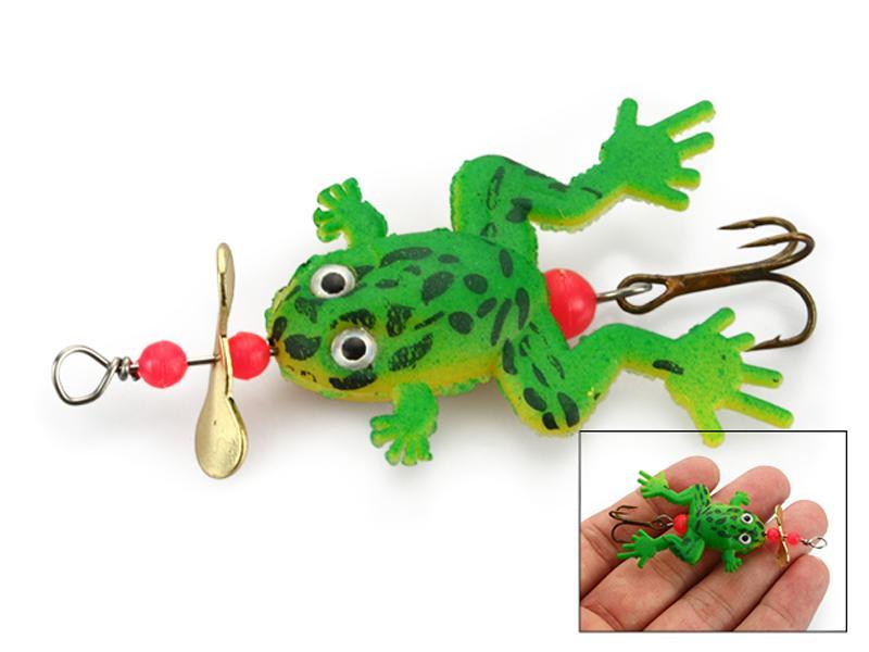30 stks Vissen Lokken Vissen Lepel Kikker Snakehead Frog Aas 3.4G