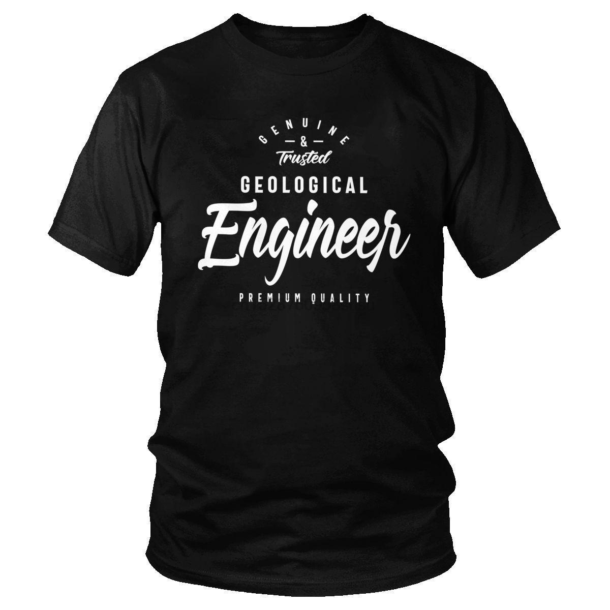 La moda más reciente camiseta para hombres de algodón geológica Ingeniero camiseta de manga corta camiseta adulto de confianza geólogo camiseta regalo informal