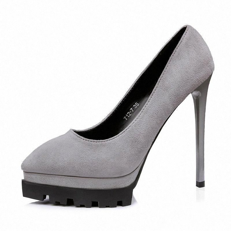 Nuove Scarpe donna dolce partito delle donne Concise donna Shallow Wedding Shoes sottile ad alto tacco donne High Heel Calzado Mujer Mens Mocassini QwcJ #