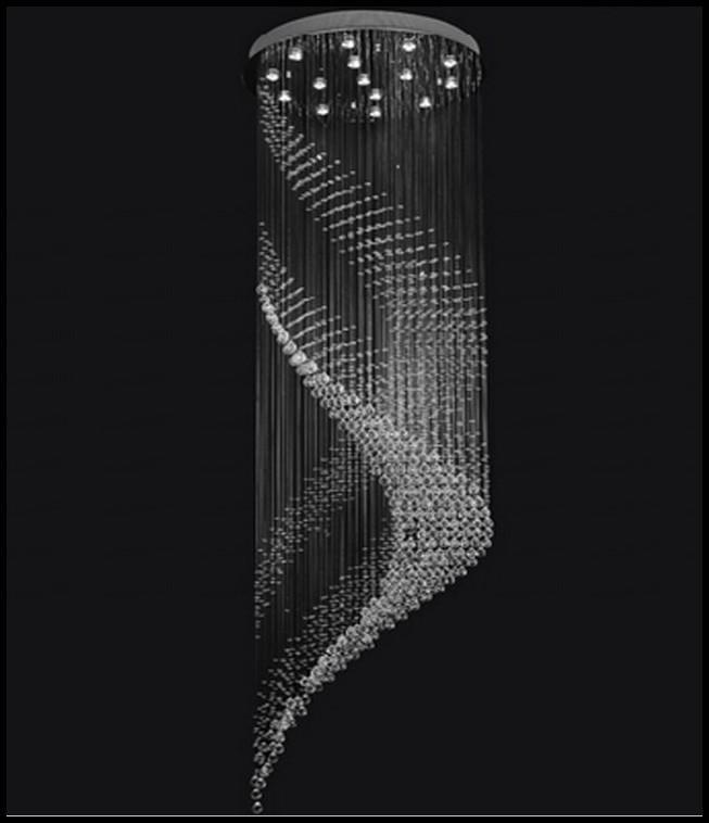 Cgjxs Yeni Spiral Tasarım Büyük Kristal Avize Aydınlatma Luster Yüksek Tavan Avize AC110 -240v Modern Merdiven Avize Llfa