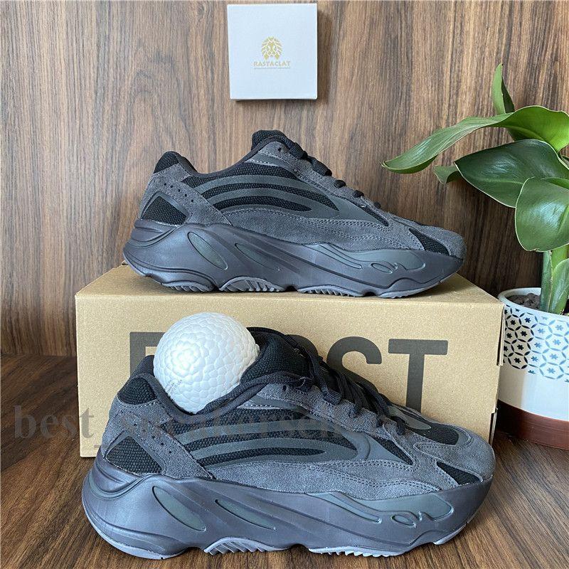 2021 Kanye West Laufschuhe 700 Wave Runner Männer Frauen Sport-Turnschuhe Wave Runner Inertia Tephra Magnet-Dienstprogramm Schwarz Mauve Des Chaussures