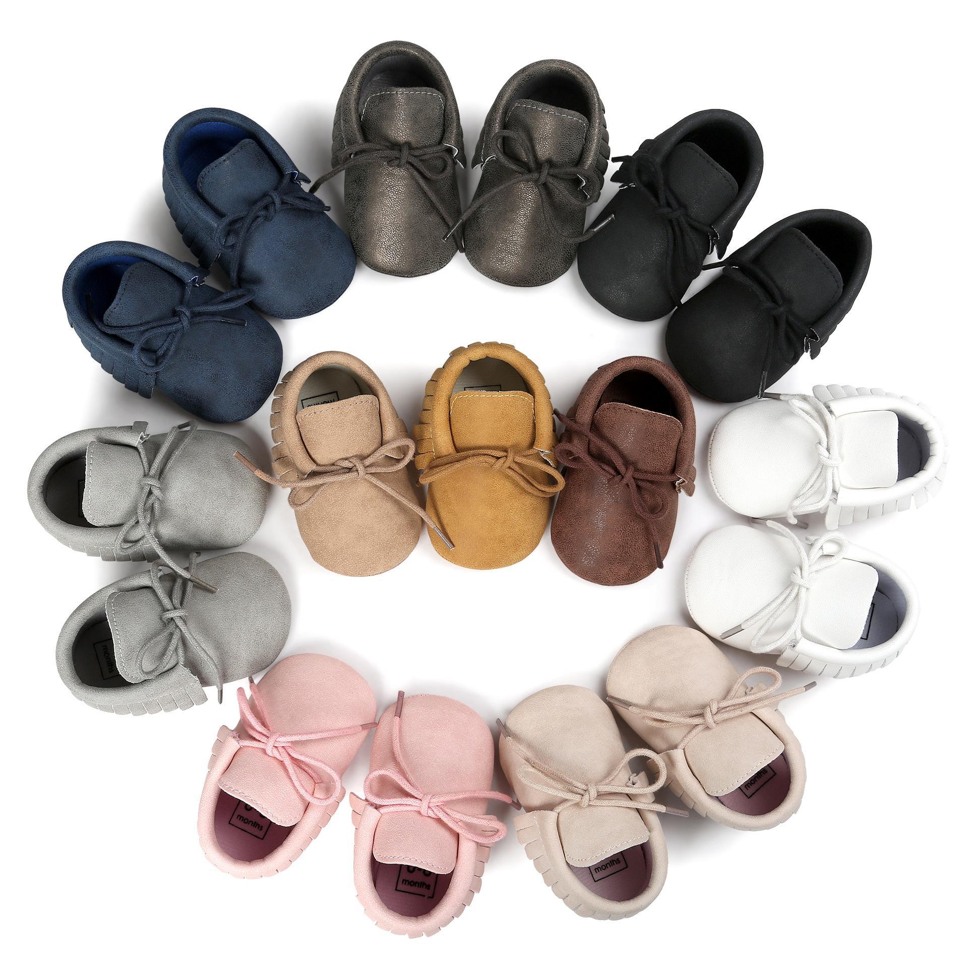6 Renkler Bahar Bebek Ayakkabı PU Deri Yenidoğan Boy Kız Kaymaz Acemi Walker Bebek Ayakkabı