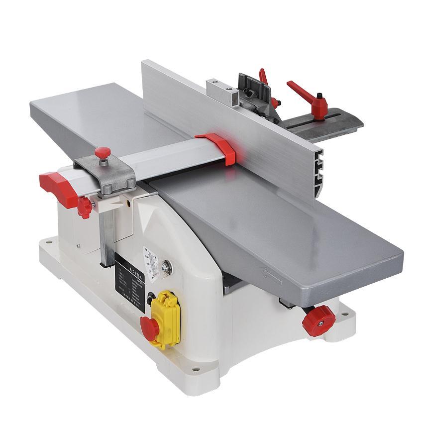 JJP-5015 multifunción Tabla cepillo eléctrico Planer carpintería Máquina de Banco Herramienta plana de madera cepilladora 220V 1280W 9000R / min