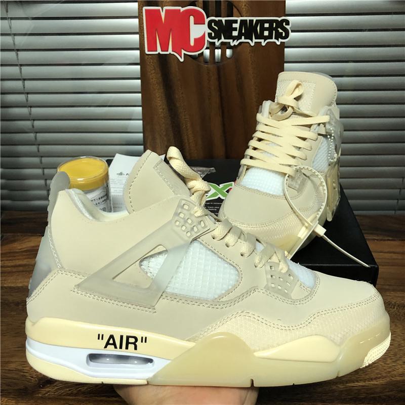 Nuovo Top White Kaws qualità Sail Uomini Jumpman 4 4s scarpe da basket Travis Scotts Cactus Jack Raffreddare Trainer Grey Donne Formato dei pattini 36-46