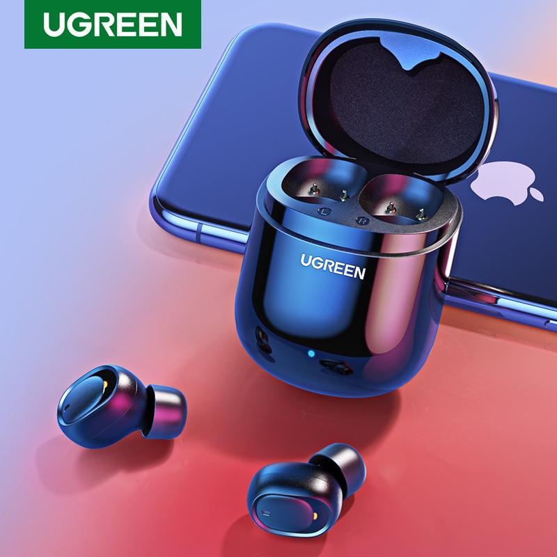 Stereo Auriculares UGREEN verdadera Bluetooth Wireless Headset Brotes de Deportes auricular de Bluetooth
