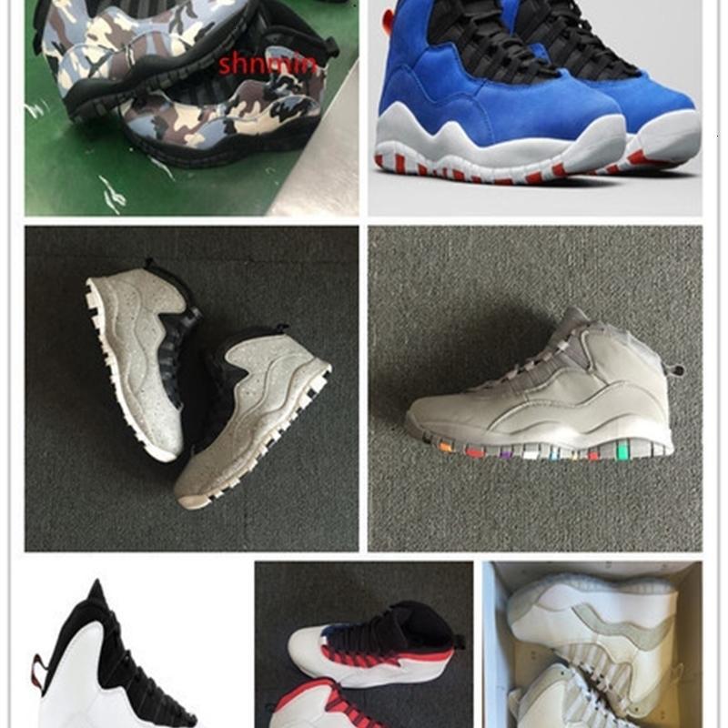 10 Camo del desierto de Tinker para hombre de los zapatos de baloncesto 10s Clase de 2006 Cemento Deportes zapatillas de deporte al aire libre atletismo con Es Shippment libre