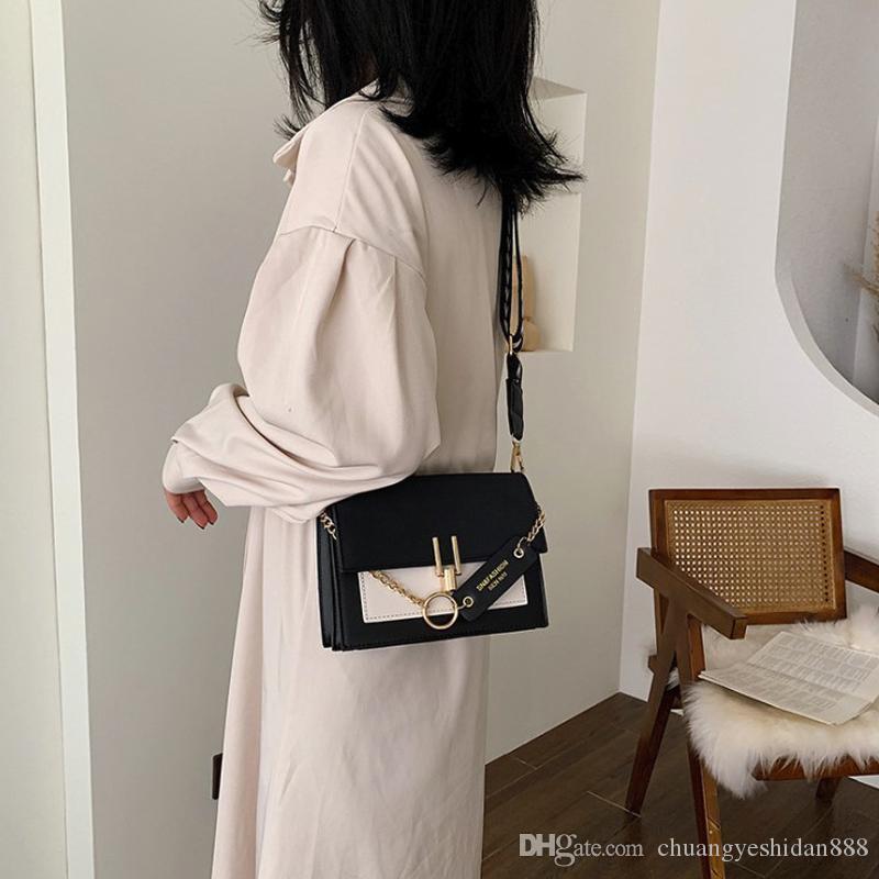 YXZ New Retro Mini женская сумка Женская мода Ins Широкий ремень плеча Сумка кошелек Простой стиль сумка