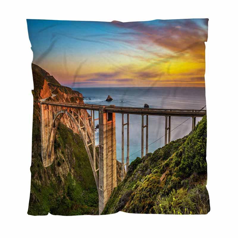 Luxe Super Soft Couverture Throw, coucher de soleil, Adulte Enfant Blanket Climatisation Quilt