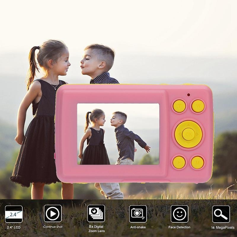 2.4HD Screen-Digitalkamera 16MP Anti-Shake-Gesichtserkennung Camcorder Blank Point and Shoot-Kamera-Digital-bewegliches Nettes Kind Pi