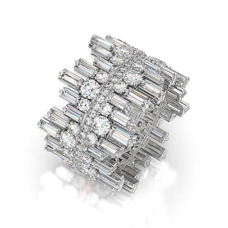 Великолепная маленькая Daisy Цирконий Свадеб кольцо для женщин Личность Неравномерность Дизайн Модные ювелирные Anniversary Gift Rings
