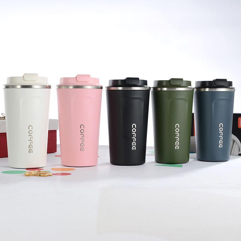 12 onças 17 onças isolados CANECA de aço inoxidável do copo de café com tampa de vácuo isolados escritório beber DWD1746 garrafa de água copo