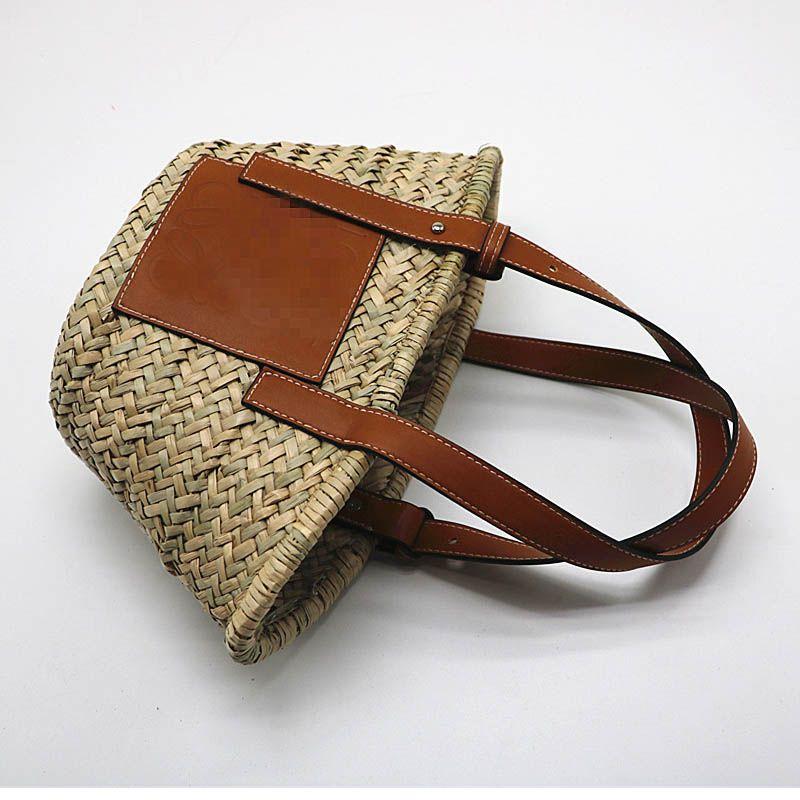 Large Capacity Straw Bag Woven Tote 2019 Super Popular Basket Bag Summer Beach Bag Women Straw Handbags Travel Shopping Packet