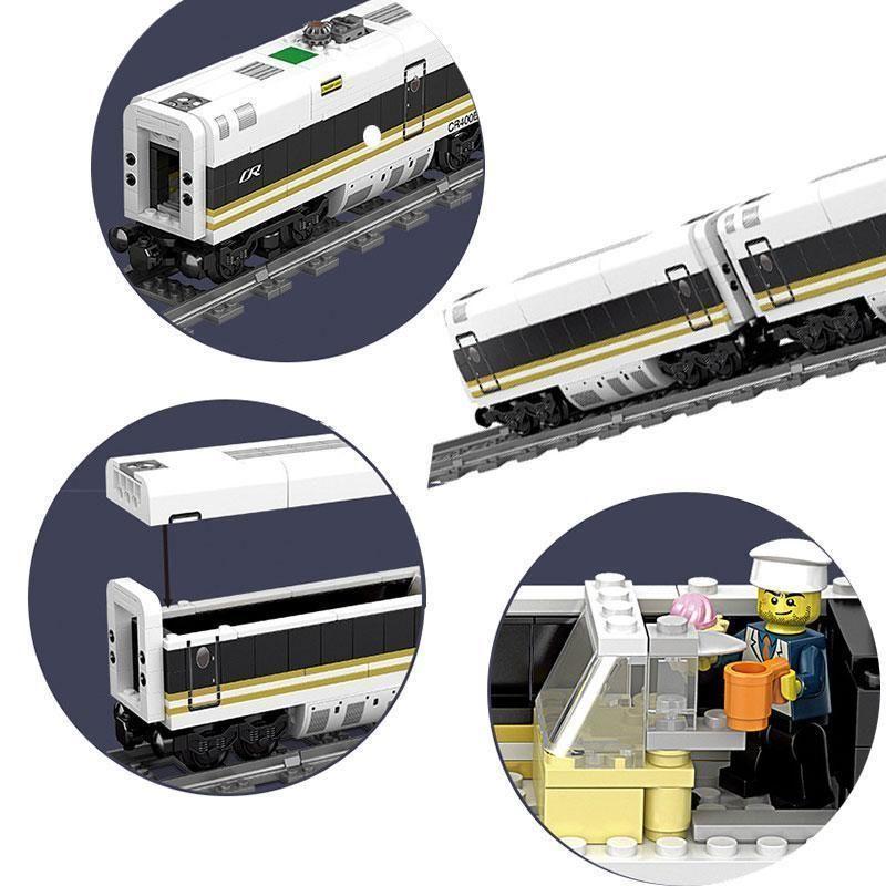 Rc Trains Electric Toy Model Trains Christmas Remote Control Train Station Simulation Model Tracks Kits Maersk Building Blocks