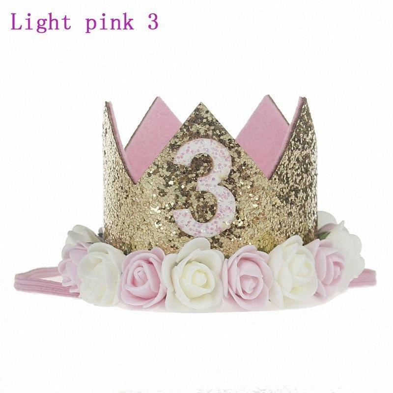 Новый милый мальчик девочка младенца День рождения Праздновать Корона Mini цветок Корона Hat Выполнить Bands для детей Kid партия волос партии декора сада HvP4 #