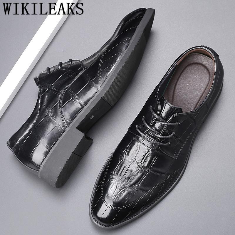 Brogue Elevador sapatos para homens Preto Oxford sapatos para homens italiano Mens Formal Couro Moda Uomo Scarpe Eleganti