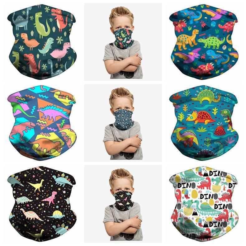 KERCHIEF MASCASA MAGICA Colorido Turbans de seda Leche para niños Ciclismo al aire libre Lavable Dustape Dustape Dusty Dust Mask Niños Imprimir Reutilizable Bufable D UVXP