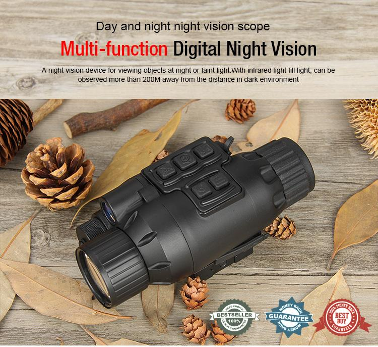 Tactical Multifunctional Night Vision Scope With Infrared Light Black Color for Outdoor Sport Free Shipping CL27-0021