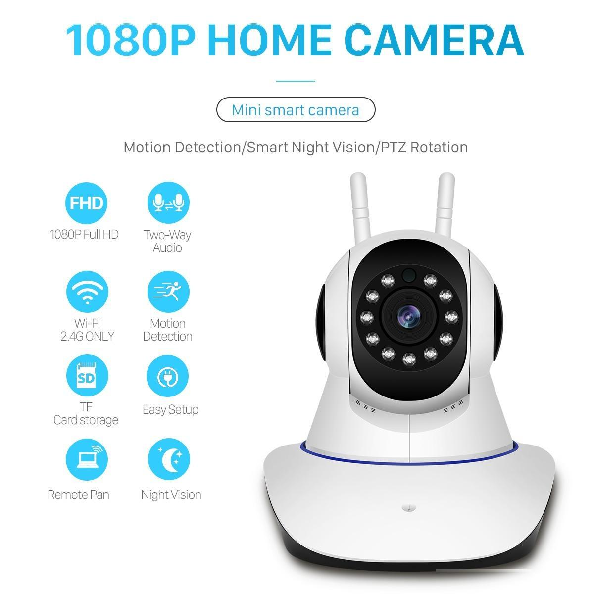 New wireless 1080P HD ip camera wifi camera 802.11b / g P2P network infrared indoor security camera with alarm sensor