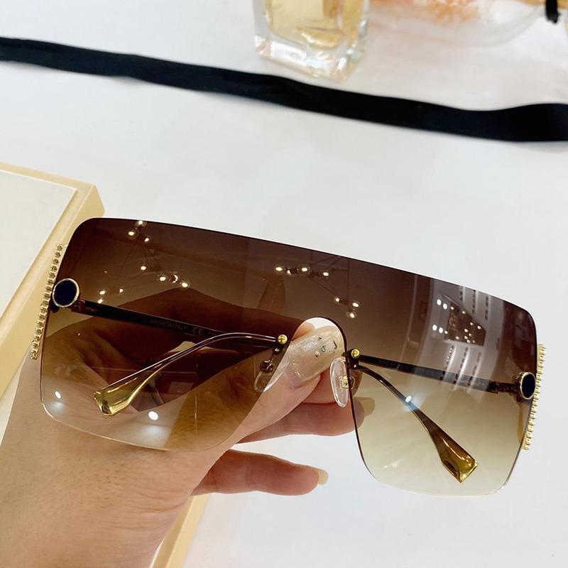0472 Neue Schutz Frauen edle Sonnenbrille UV400 Die beliebte Sommer Elegante Metallstil Eyewearrahmenlose Sonnenbrille mit Maskenpaket Daxo