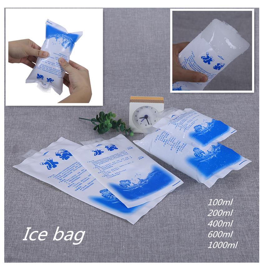 Food Fresh-Gaines Sac de glace Réutilisable Congélateur PE Paquet de glace Gel Food Sacs frigorifiques Express Sacs de refroidisseur en plastique Personnalisé Logo Free DWD1747