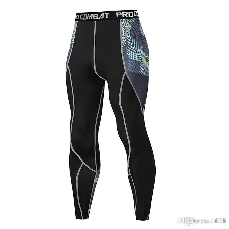 Сжатые брюки плотно подходят Slim костюм мужской фитнес СПОРТИВНАЯ поножи тренажерный зал работает брюки мужские спортивные брюки Crossfit йоги Фонд