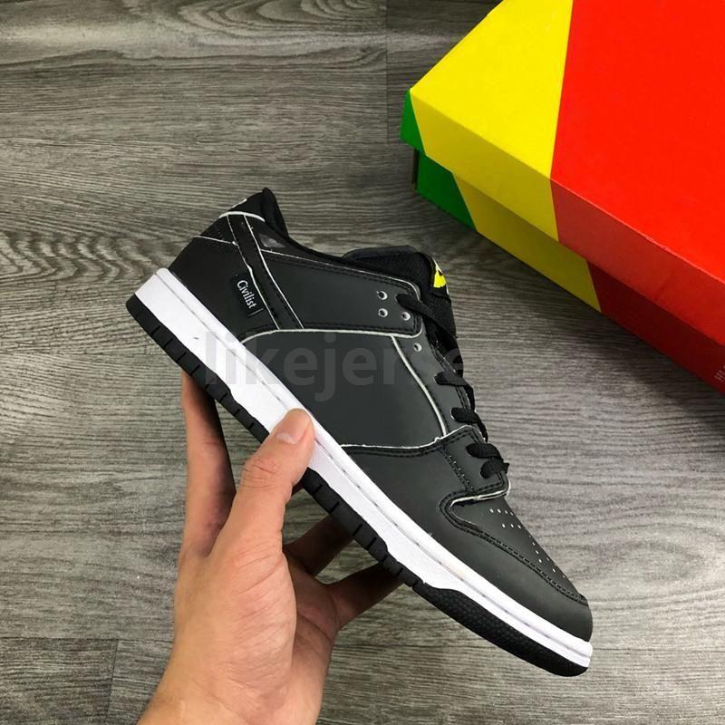 2020 SB Low civiliste Dunk x Chaussures de course pour la haute qualité Noir Source de chaleur de réaction Hommes Skateboard Formateurs Femmes Sport Snea