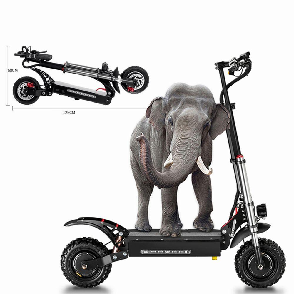 Envío gratuito bicicleta plegable de 11 pulgadas 60V 5400W Scooter eléctrico para adultos de alta velocidad Off-Road Dual Drive Electric Vehicle