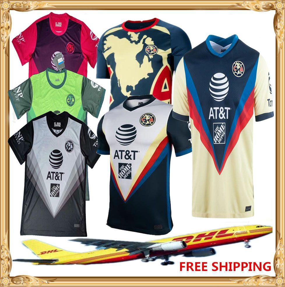 DHL Бесплатная доставка 20 21 Club America Soccer Jerseys Home Oled 2020 2021 Liga MX Club Club America Футбол Футбол Может быть смешанным партием