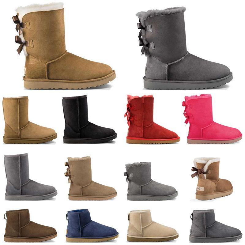 Hotsale는 여자 고전 스노우 부츠 겨울 검은 밤의 커피가 여성의 패션 신발 야외 여자에 대한 짧은 나비 모피 부츠 발목 여자