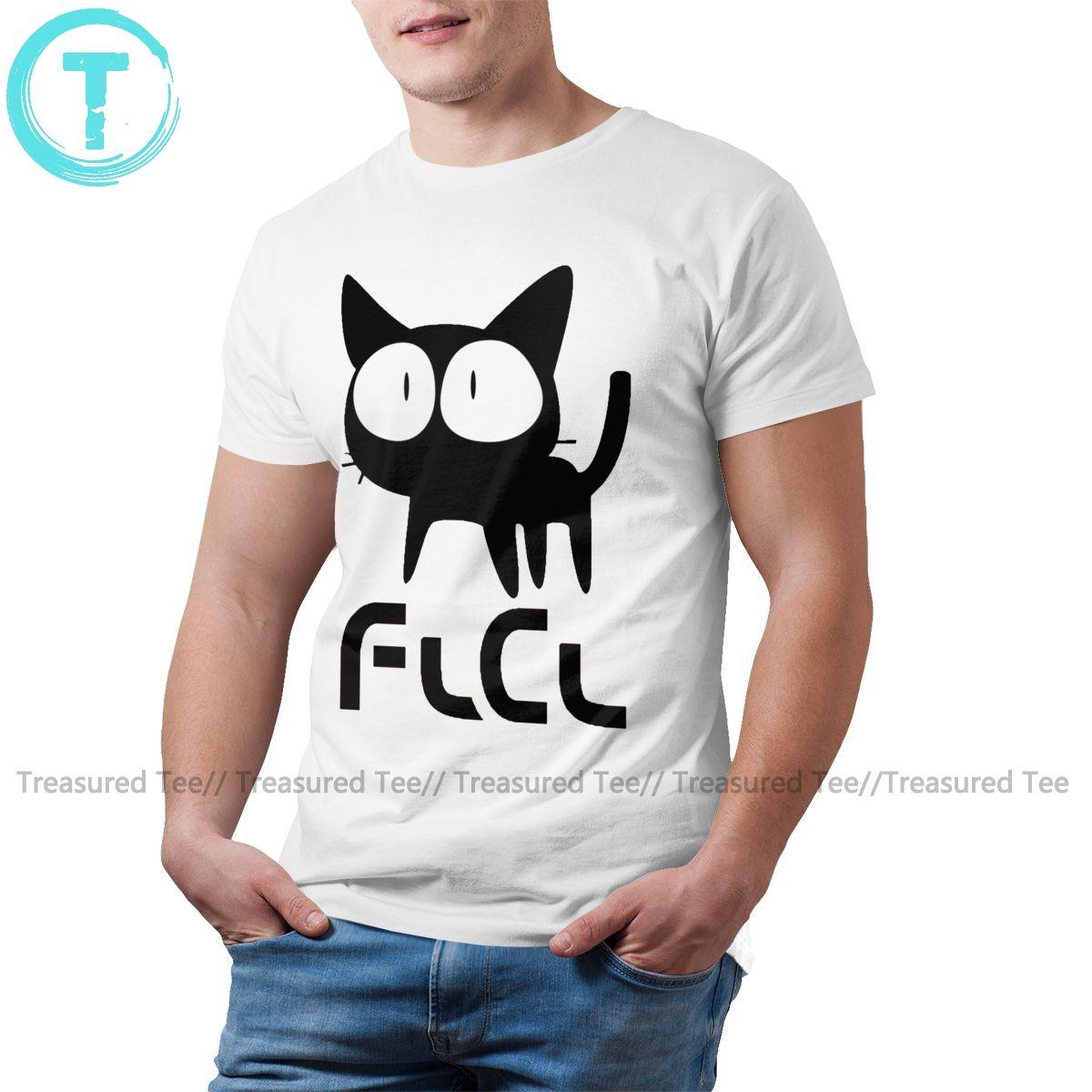 Giappone Cat maglietta flcl CAT T-shirt XXX Carino Tee Shirt Uomo Moda maniche corte stampato maglietta