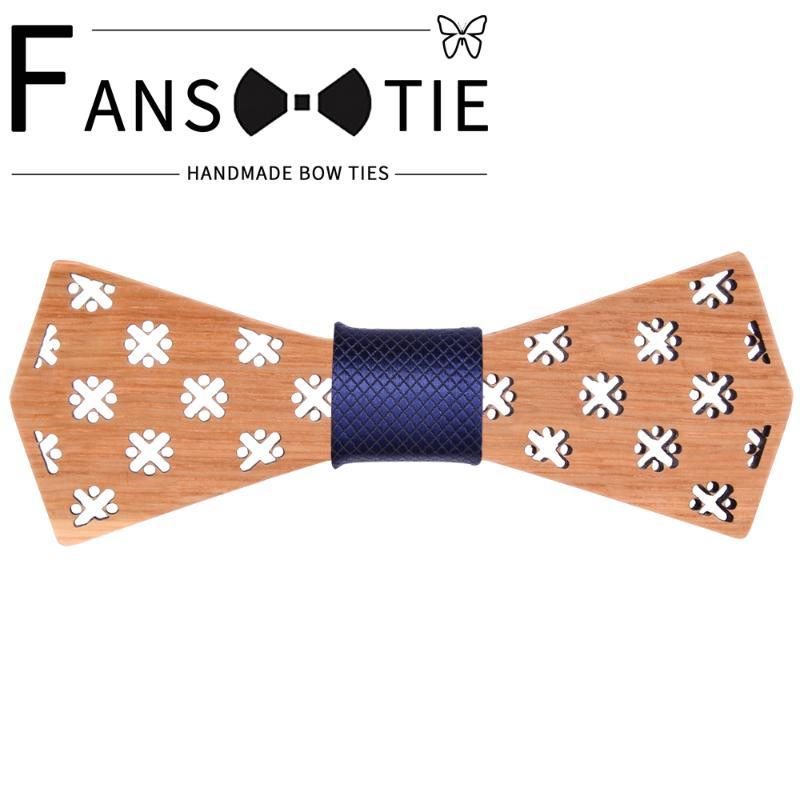 2020 Новая мода 100% деревянный Bow Tie Белый Черный Plaid Цветочные Вуд Боути Для мужчин Свадебные аксессуары шеи галстук подарка новизны
