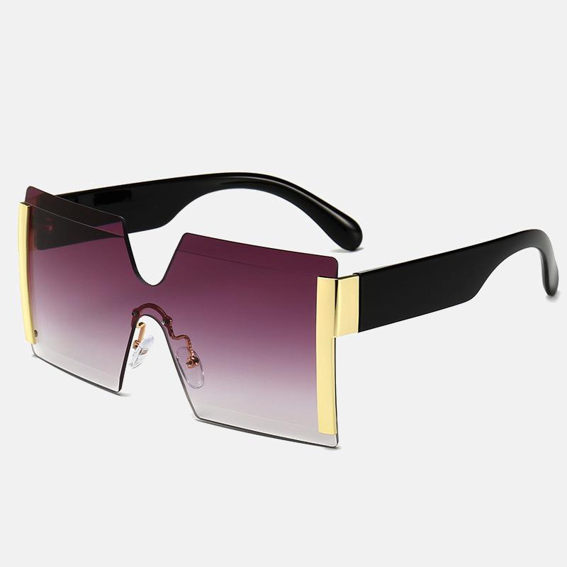 Súper enamorada Square Top Ladies Gran Marca Gafas de sol Diseñador Gafas de sol Viajes Flat Big Women Kbmll