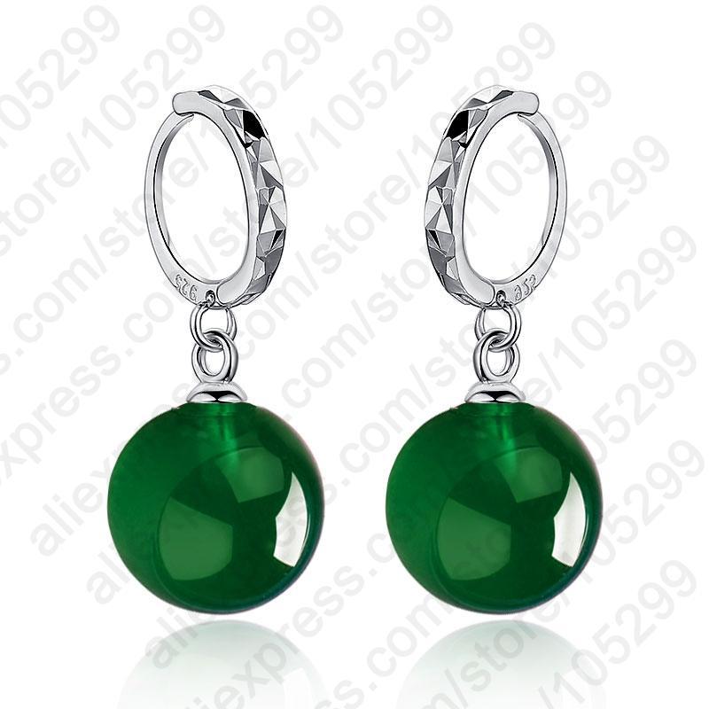 Weihnachtsgeschenke einfache stilvolle Förderung der neue Entwurf 925 Sterlingsilber-Tropfen-Ohrringe für Frauen Big Beads Schmuck