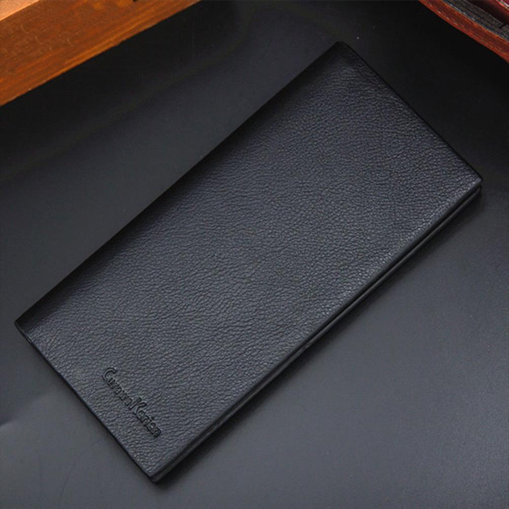 Portefeuille long Portefeuille Mens Portefeuille Dollar Couleur Longue Section Prix Portable Carte de crédit Portable US Solid Slim KVXOC