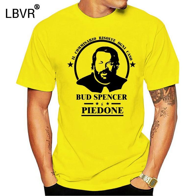 Stella Bud Spencer T-shirt con stampa grafica del nuovo esercito Verde Motivo ornamentale o collo Tee Tops uomini e donne maglietta Hipster Tee Shirt Homme