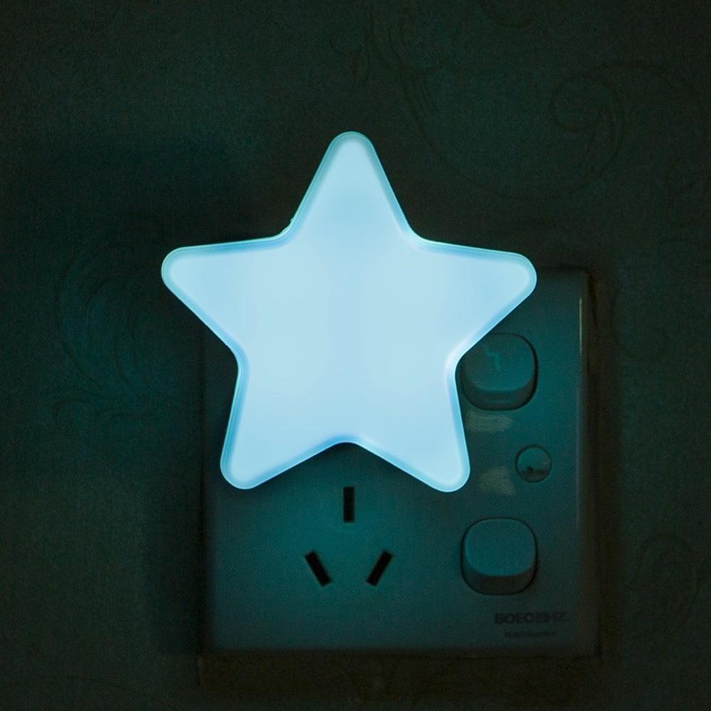 Cgjxs Led Night Light Por Dark Night Crianças Quarto cabeceira Lâmpada Com UE / EUA Tomada do bebê de sono claro Jk0018a
