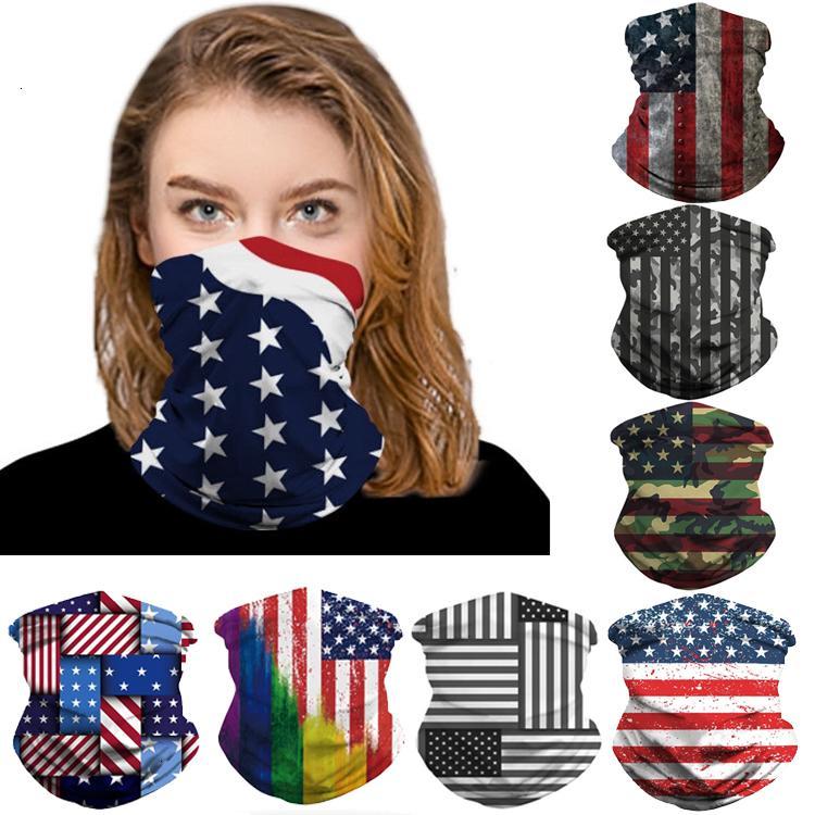 Estilos 8 pañuelos MASCARILLA 3D EE.UU. Bandera Bufanda mágica Máscaras de diseño deportes al aire libre diadema turbante Pañuelo ciclismo DHC611