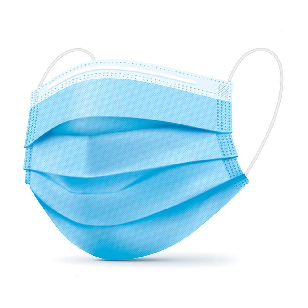 100 Pcs multicolorido descartável Face - anti-poeira respirável, 3 Camadas de purificar Extende rosa Máscara sHYS4 azul LY