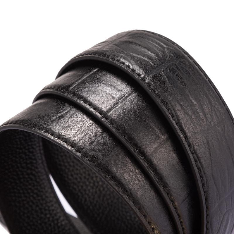 PdBtT Nuova cinghia di cuoio di affari automaticleather primo strato della pelle bovina di giovane alla moda della moda cintura di stile britannico degli uomini