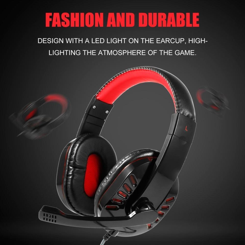 SY755mv Luminous Игровые наушники LED Gaming Оголовье гарнитуры, предназначенные для PS4 коммутатора Xbox