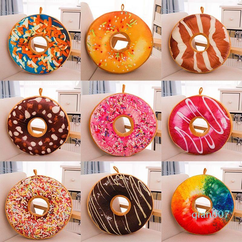 Almohadilla del juguete de la historieta creativa Donuts cojín del sofá Silla Almohada decorativa Moda felpa de algodón PP regalo 40CM envío HH7-796
