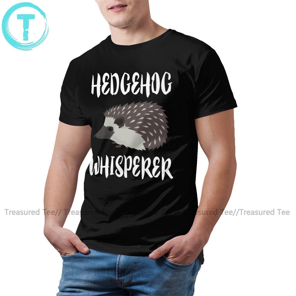 Hérisson Hérisson T-shirt Whisperer amant animal T-shirt imprimé drôle T-shirt des hommes T-shirt de plage 5x