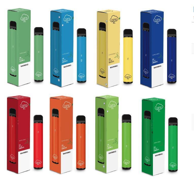 Otantik Airis XL 1200puff Tek vape Pod Cihaz 850mAh 3.5ml Prefilled Taşınabilir Vape Çubuk Kalemler Bar Sistemi