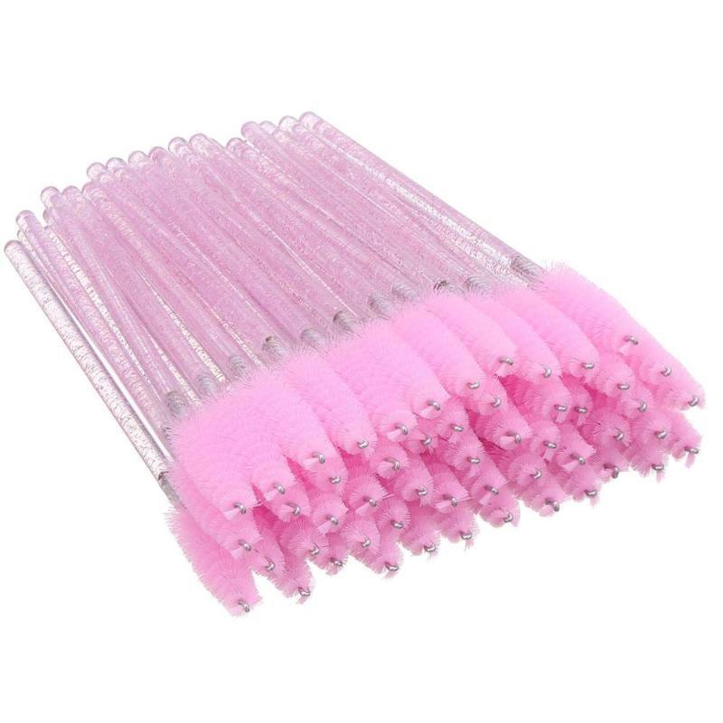 300Pcs compone le spazzole di cristallo della spazzola del ciglio a gettare delle bacchette della mascara dell'applicatore CIGLIA pennelli cosmetici per il trucco strumento