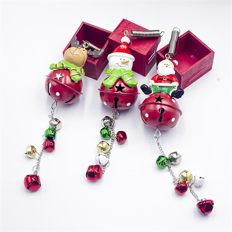 Fer Art d'arbre de Noël Décorations Pendentif Cartoon Character Modeling clochette festival Red Hot Bells vente 7 2xb L1