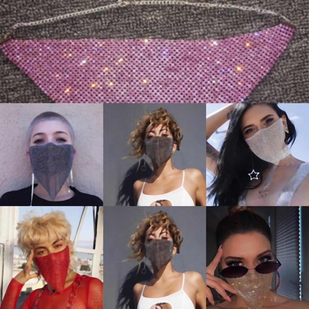KHpeR maskeleri Cadılar Bayramı elmas taklidi maskeleri moda elmas yüz maskesi ile Spangled moda yüz yüze kadınların güneş maskesi maske