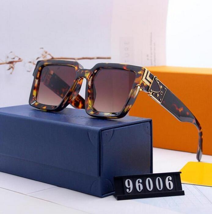 di lusso di vetro di modo occhiali da sole di alta qualità per i vetri Uomini Occhiali da Sole Vintage metallo sole sport