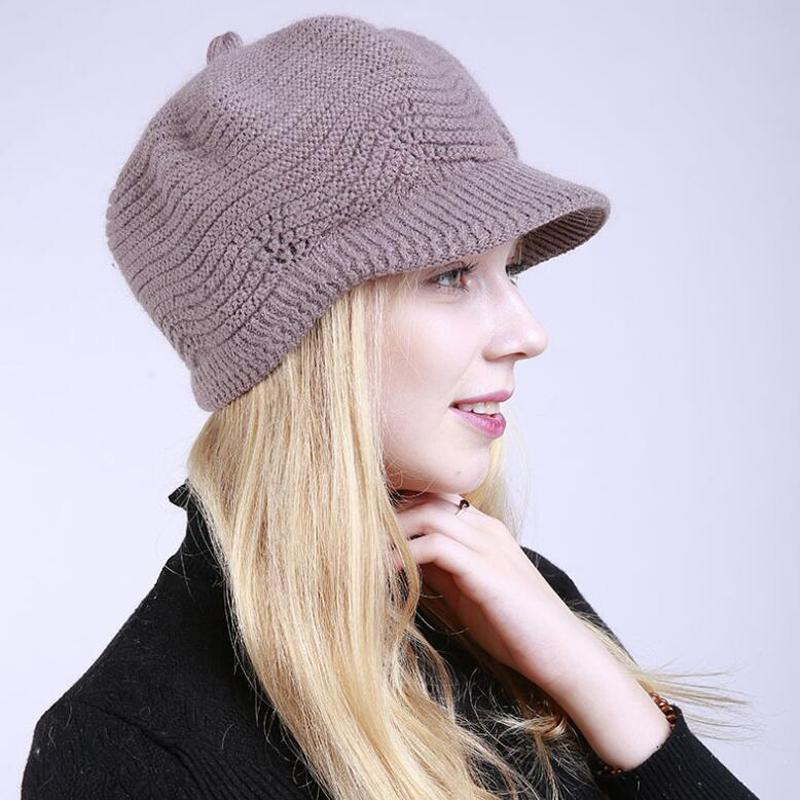 Winter Hats For Women Skullies Beanies Hand Made Hats 2020 NEW Womens Hat  Knitted Cap Khaki Hats And Caps Beany From Watercup, $30.56| DHgate.Com
