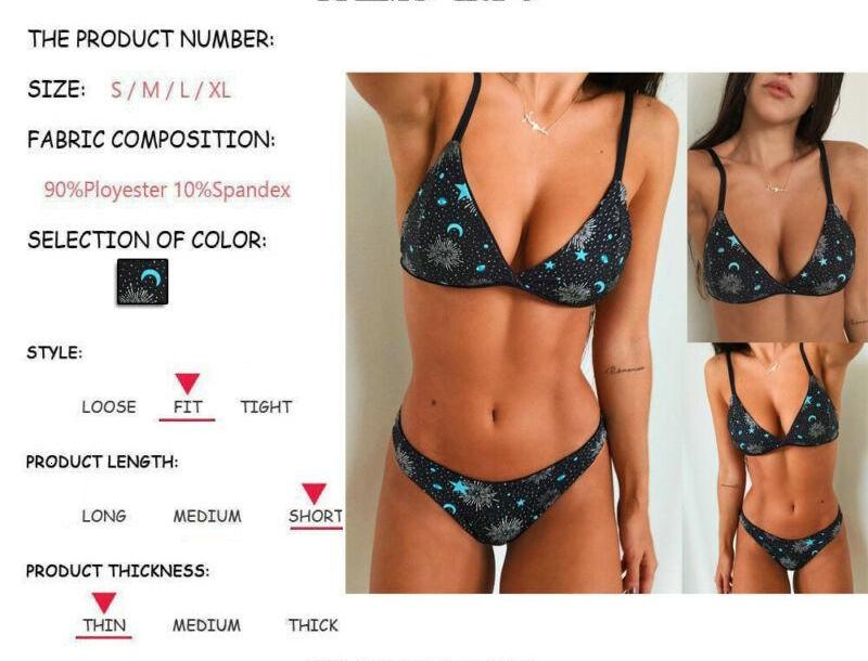 2020 Hang A Ne Sexy Printing Two-Piece Outfit Women Push Up Padded Bra Bikini Set High Waist Swimsuit Bathing Suit Swimwear77